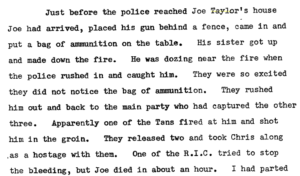 Read more about the article The death of Joe Taylor of Glencar – 27 February 1921