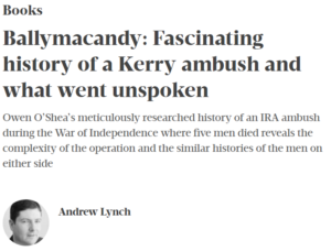 """Read more about the article """"Meticulously researched and soberly written"""" – the Business Post on 'Ballymacandy'"""